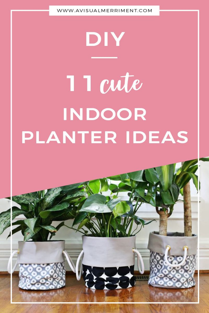 11 Cute Indoor Planter DIY Ideas like pots, bags, hangers even tea cups
