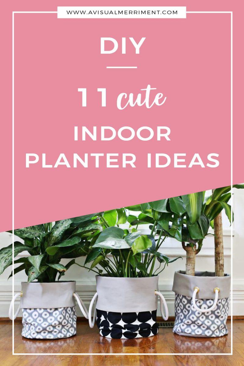 11 Cute Indoor Planter DIY Ideas like pots, bags, hangers even tea cups