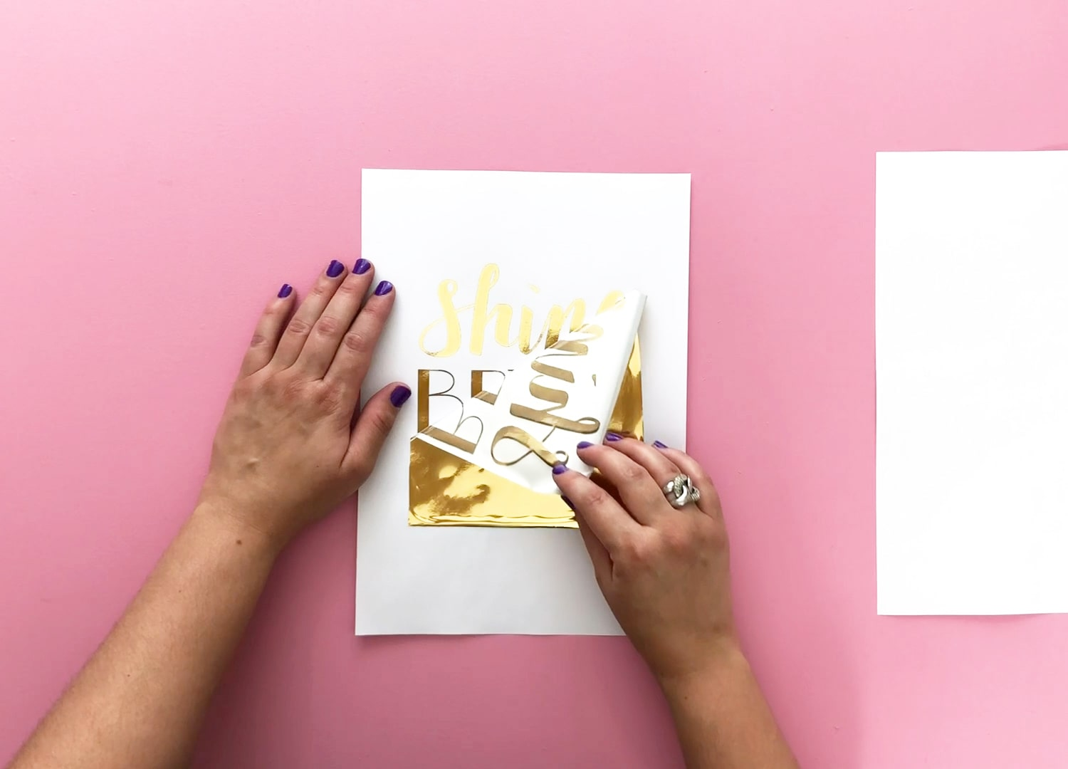 Remove metallic foil from print