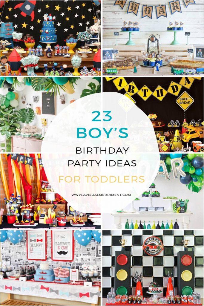 23 boys birthday party ideas collage
