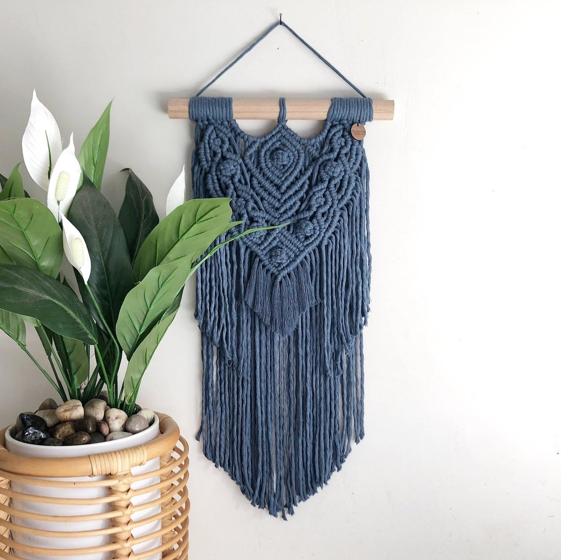 Blue Boho Macrame Wall Hanging gift guide