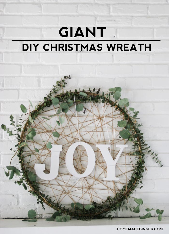 DIY giant boho Christmas wreath