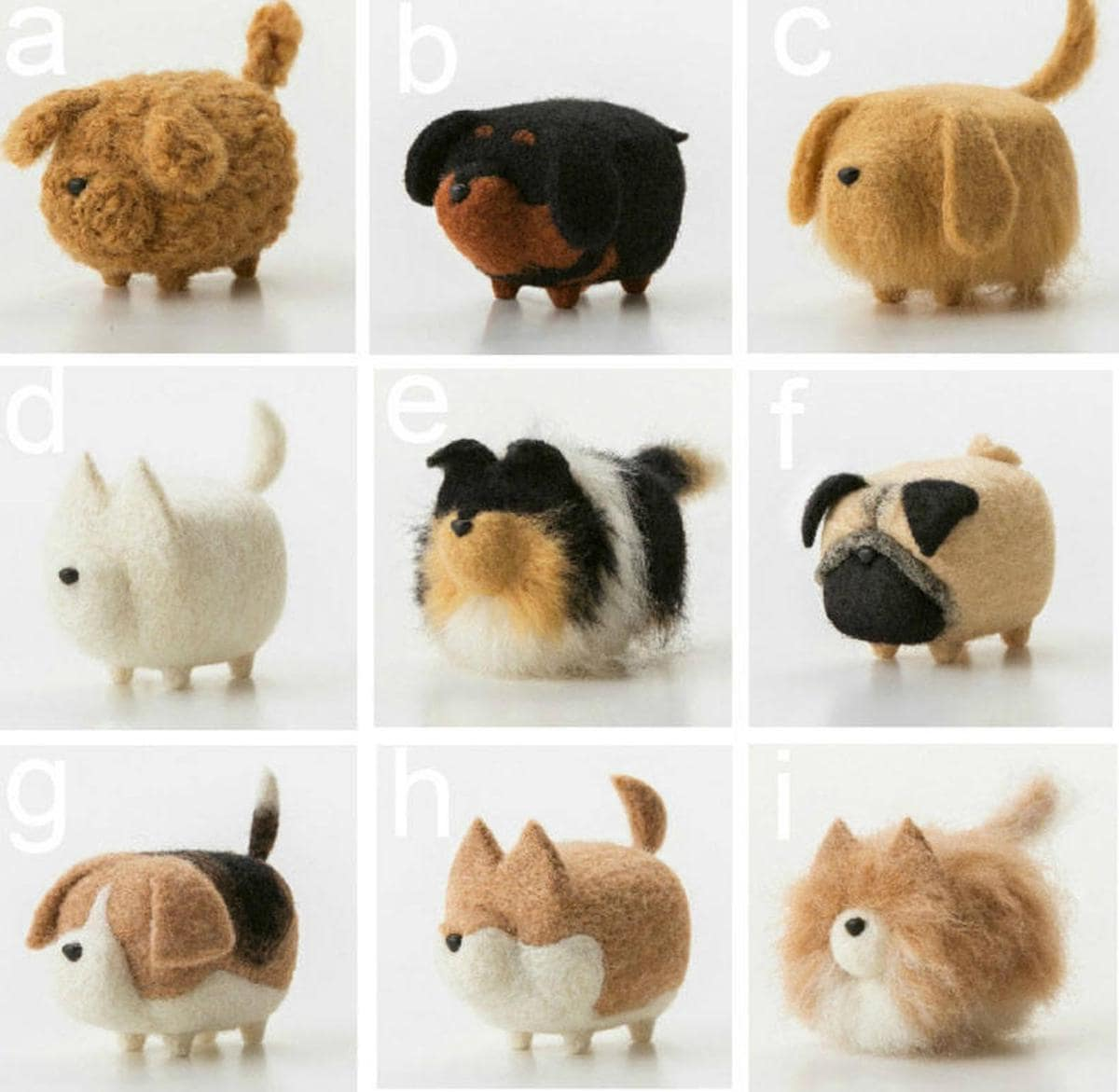 Etsy gift find wool needle felt dogs