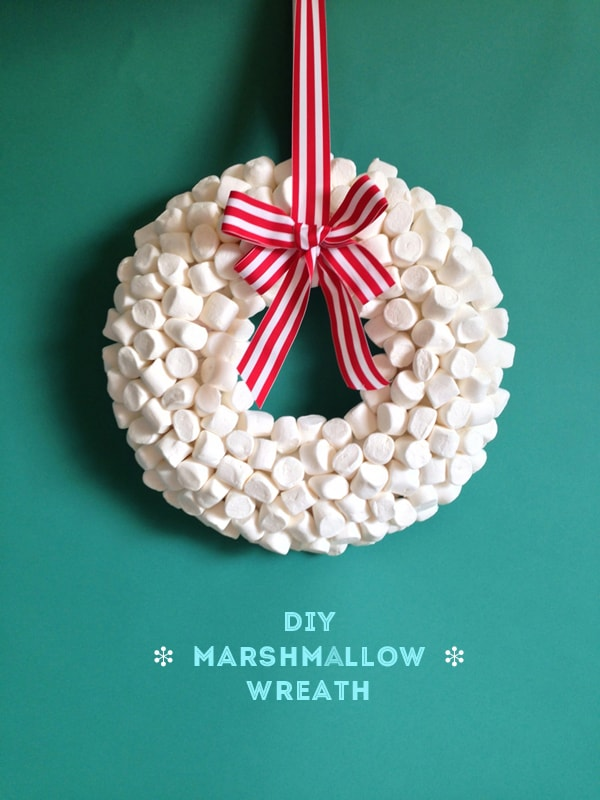 Marshmallow Christmas wreath diy
