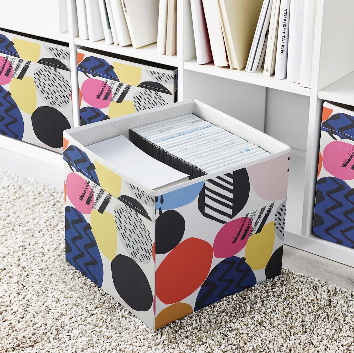Latest IKEA product DRÖNA Multicoloured Patterned Box