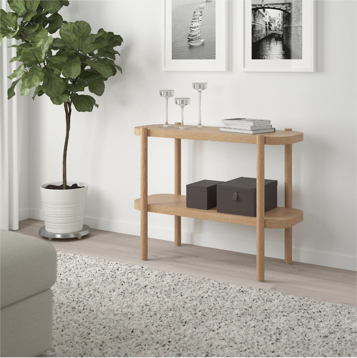 Latest IKEA product LISTERBY White Stained Oak Console Table