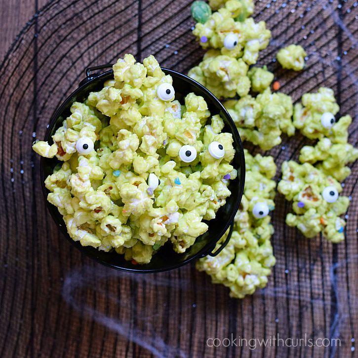 green popcorn halloween party food
