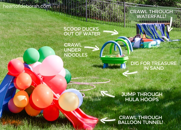 Kids obstacle course summer activities