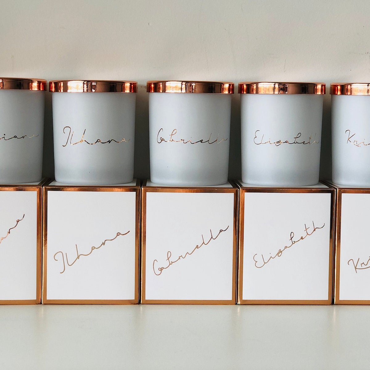 Rose Gold Personalised Soy Candles