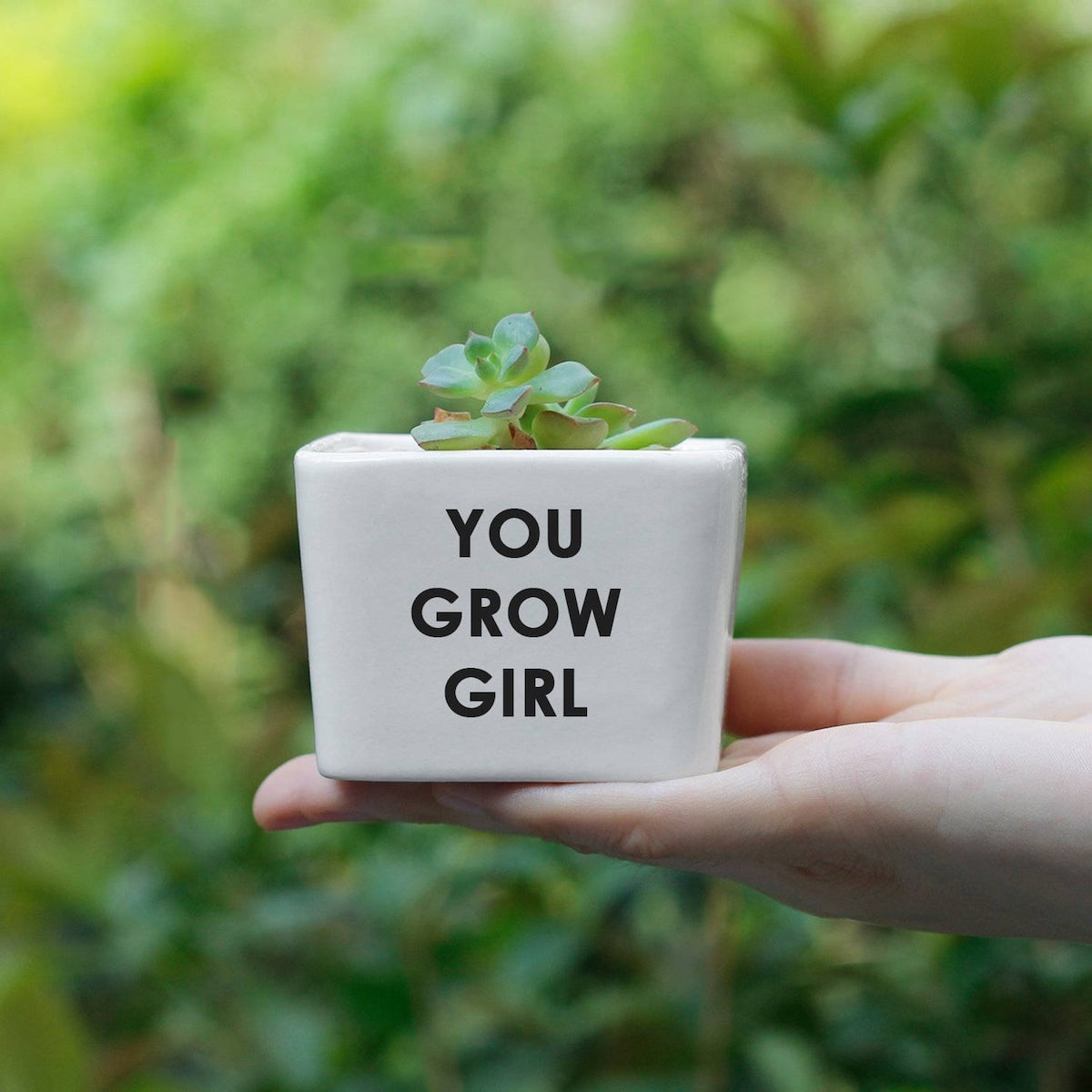 Etsy Gift Guide You Grow it Girl Quote Planter