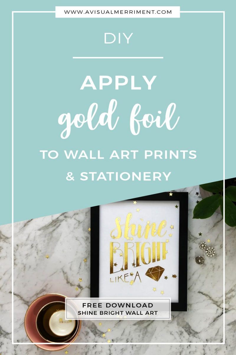 Bling up plain wall art prints with minc foil