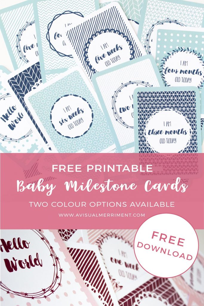record baby's age milestone with these printable cards