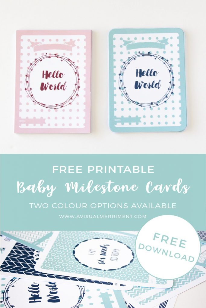 Download free boys and girls baby milestone cards