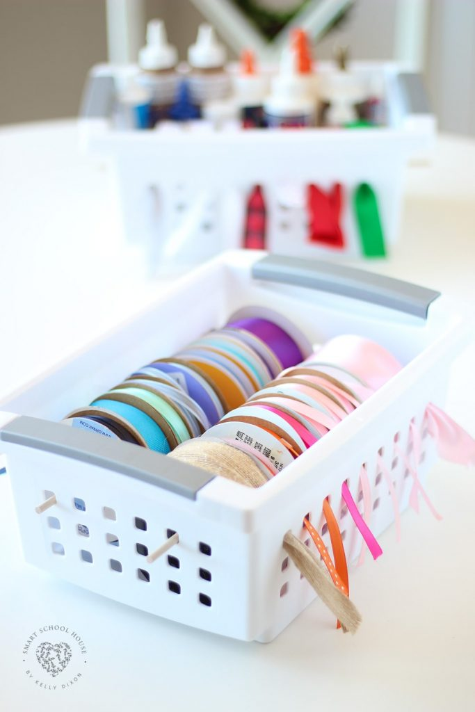 Plastic Basket Ribbon Storage