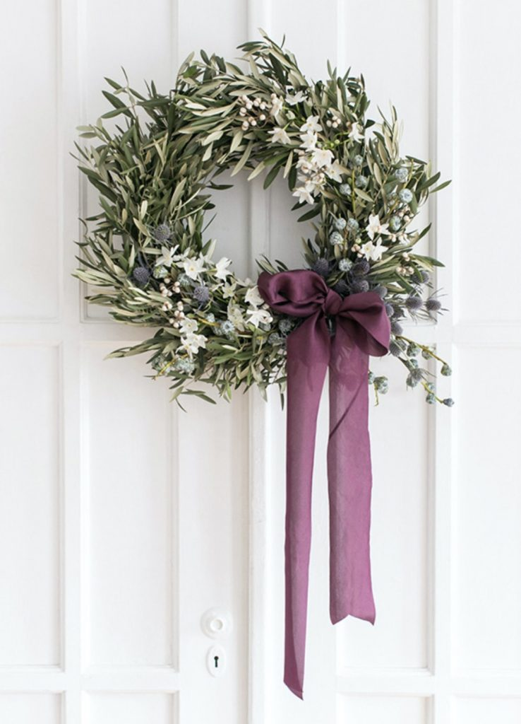 Olive holiday wreath DIY