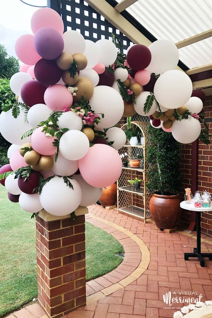 image of whole balloon arch hanging