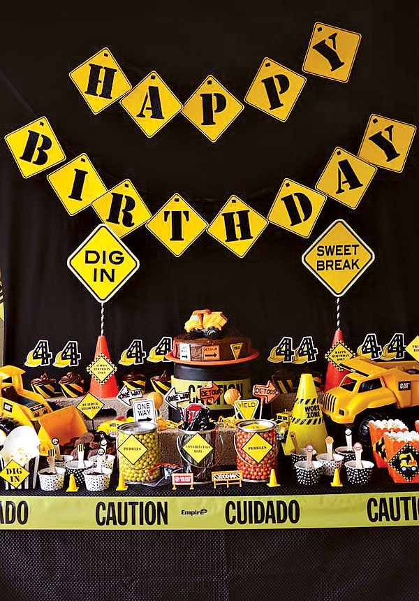 construction toddler birthday party theme idea