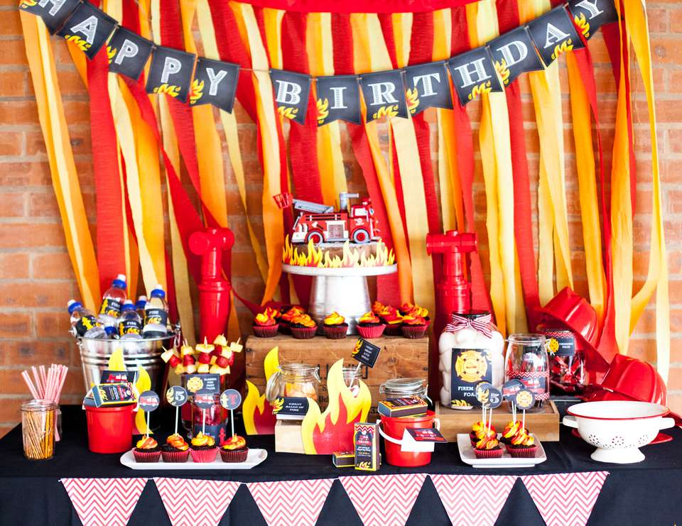fireman's birthday party for a little boy