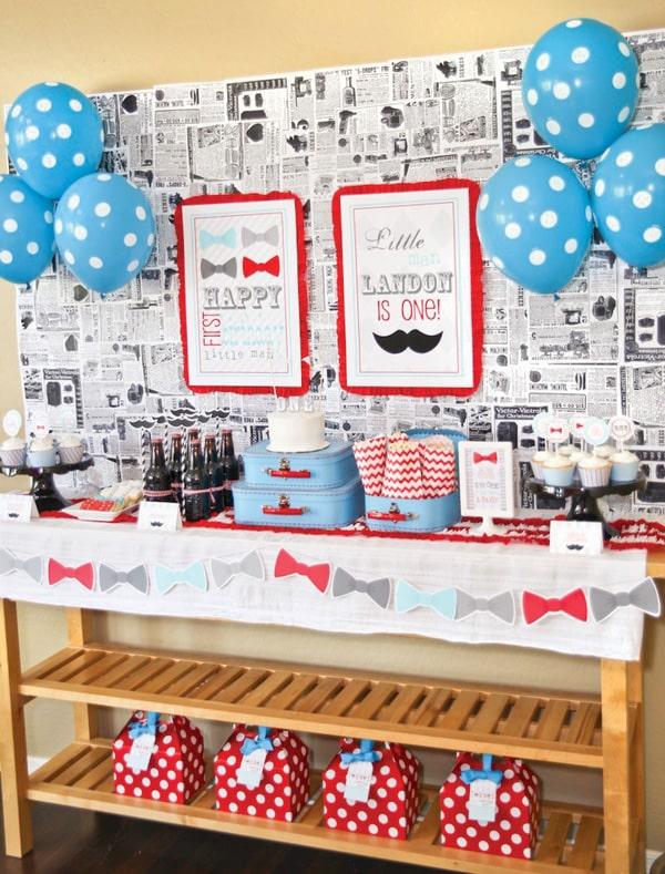 mustache bash little boys birthday party idea