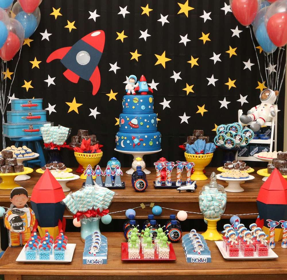 young boy's outer space birthday party ideas