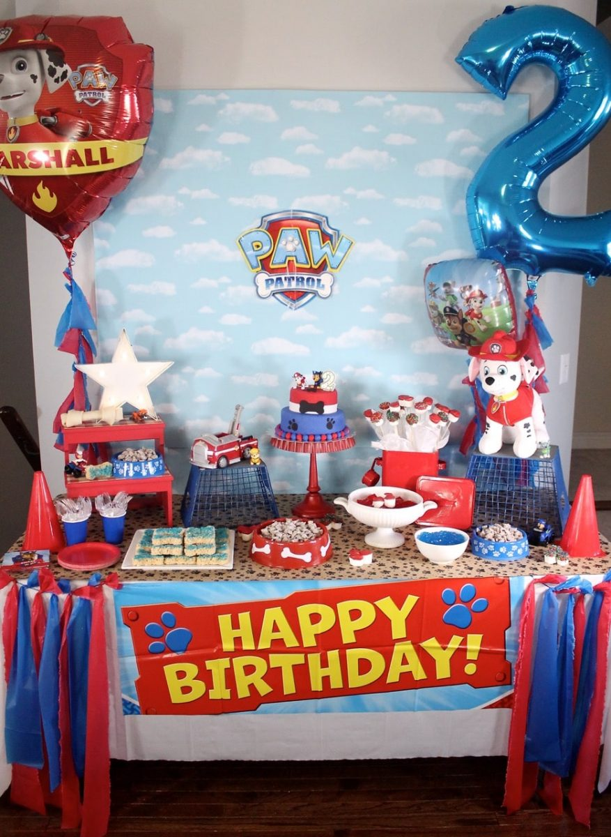 paw patrol themed boys birthday party for toddlers