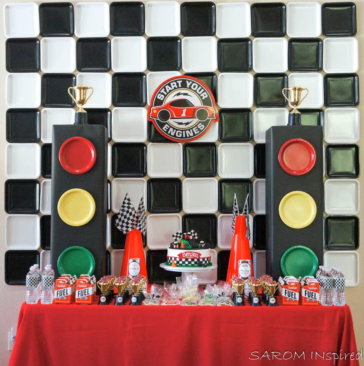 little boys race car birthday party theme