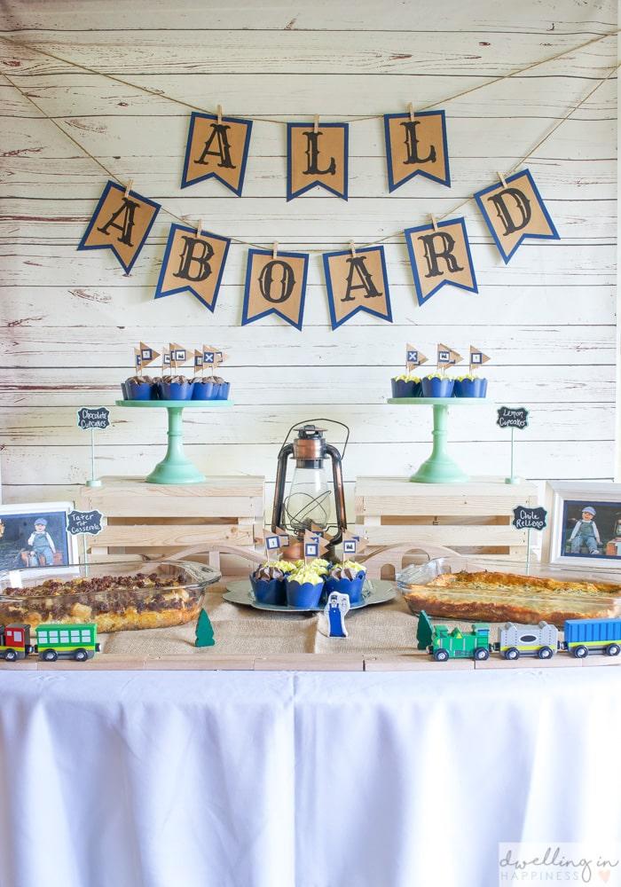 vintage train birthday party theme idea