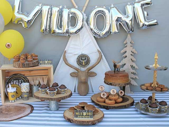 1st birthday wild one party theme idea