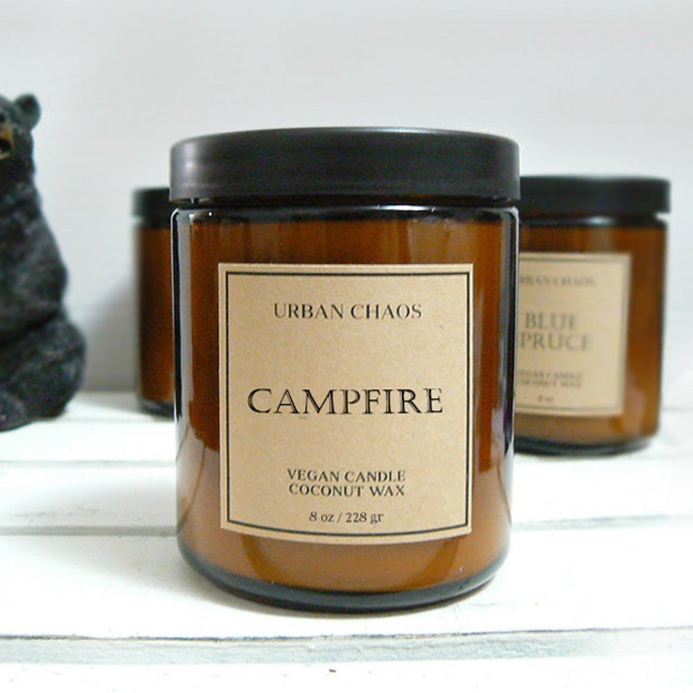 campfire candles in jar