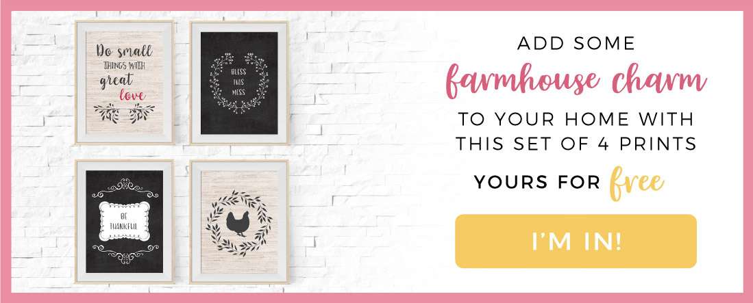 Free farmhouse wall decor print download | Join A Visual Merriment mailing list for latest on DIY, design, home and party inspiration plus access to the freebies printables library
