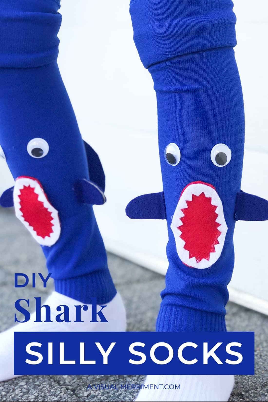 DIY shark silly socks intro graphic
