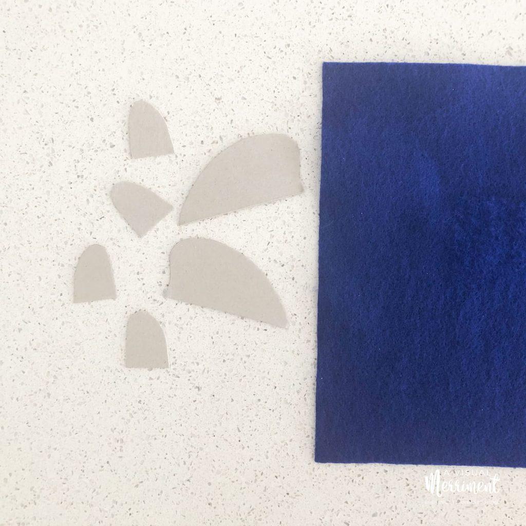 Cut out shark fin templates