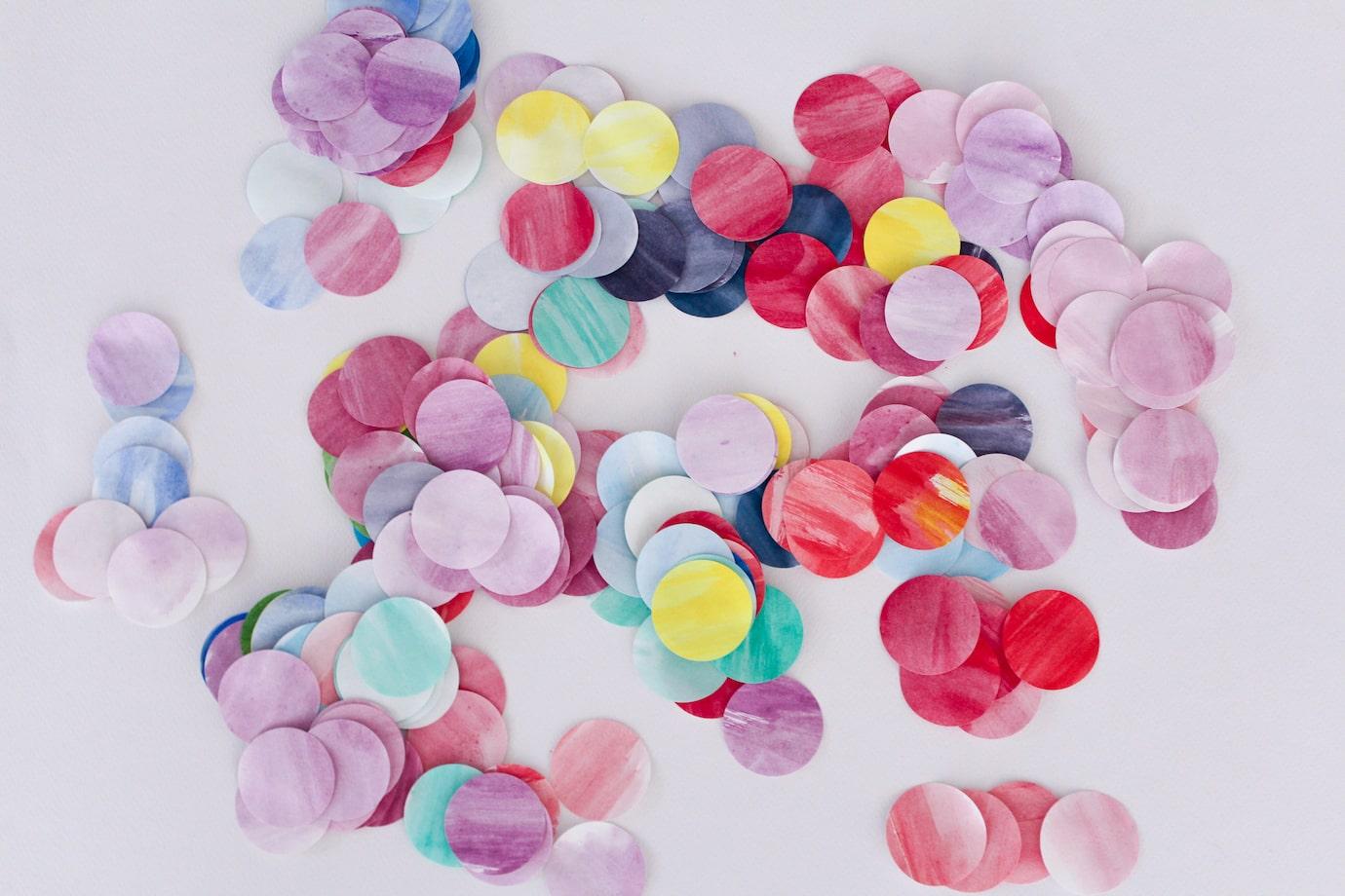 watercolour paper punchie circles