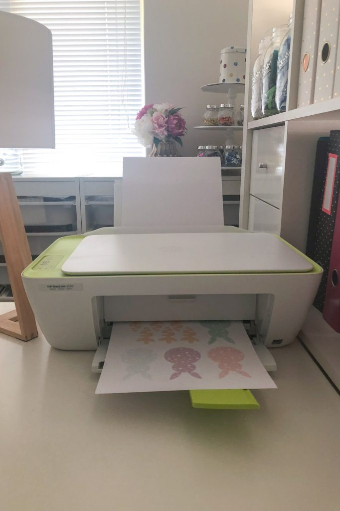 Printing easter bunny template