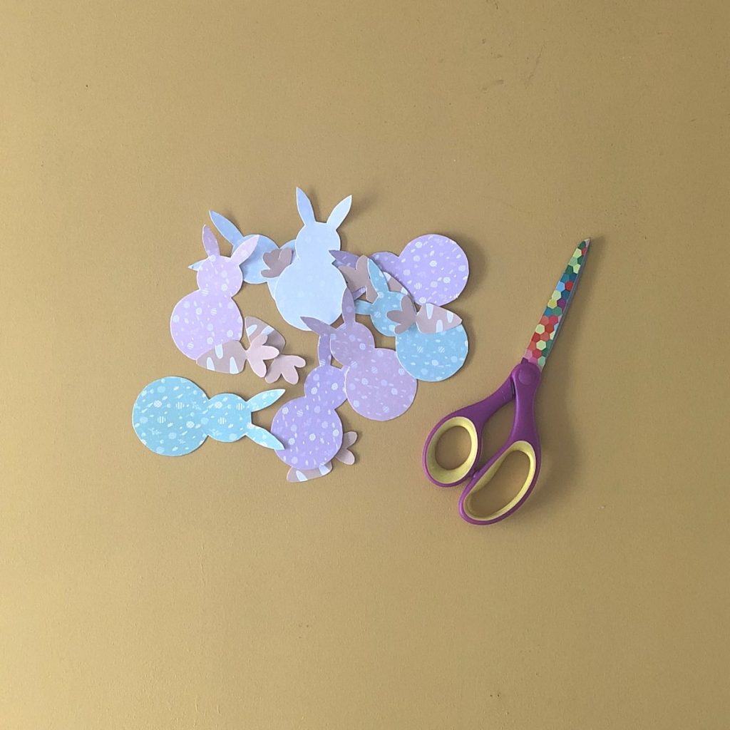 Cut Easter shapes with scissors