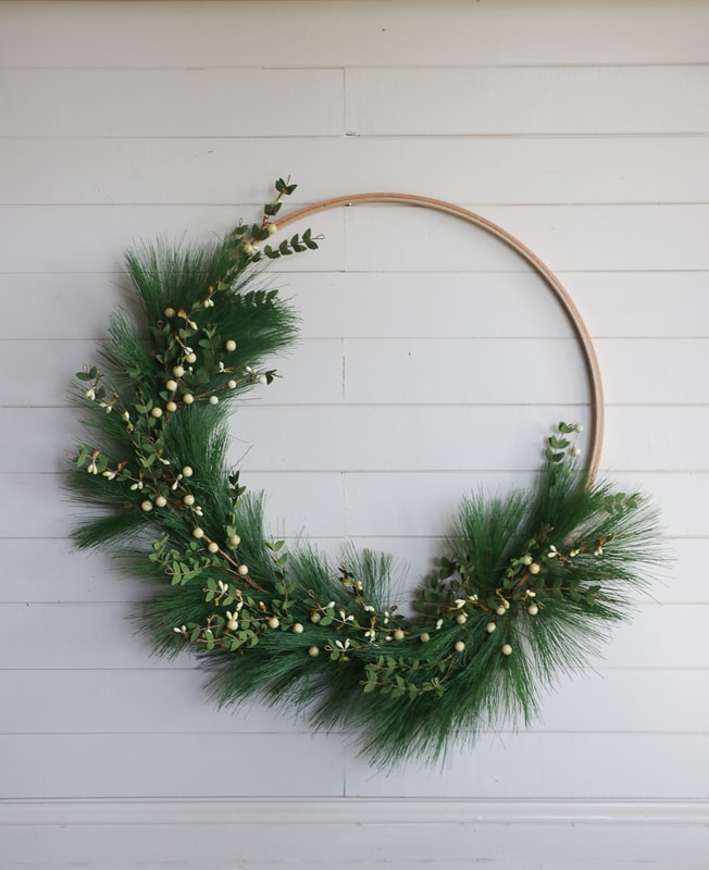 Hoop christmas wreath