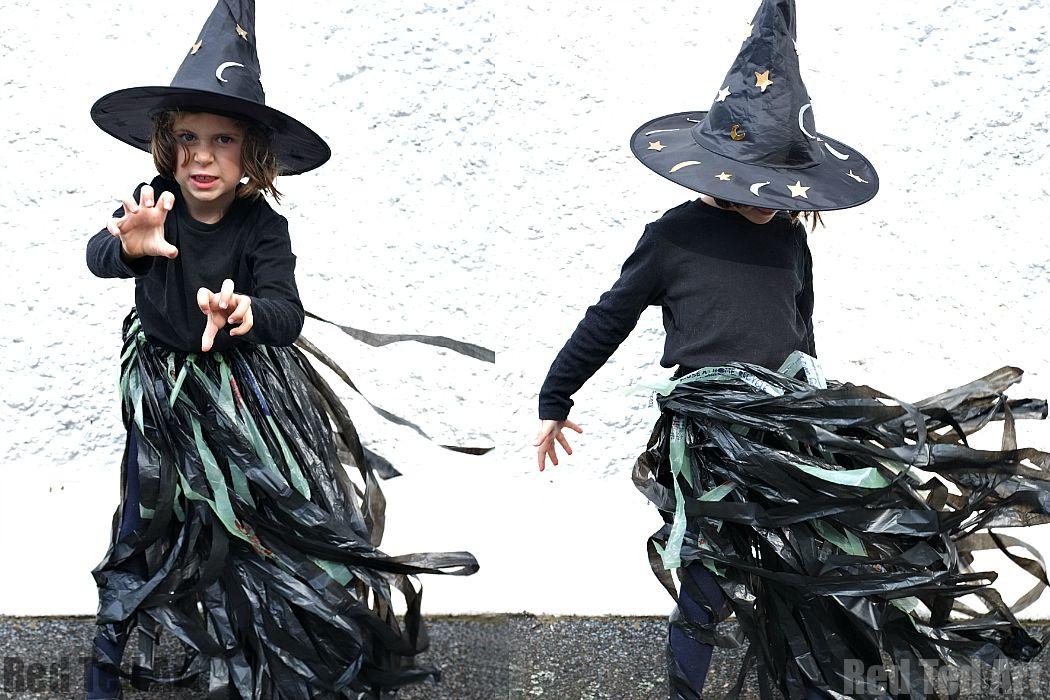 Bin Liner Witch Tutu Halloween costume