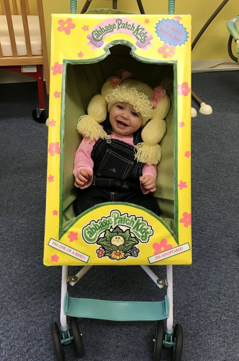 Cabbage Patch Doll Stroller Costume for Halloween
