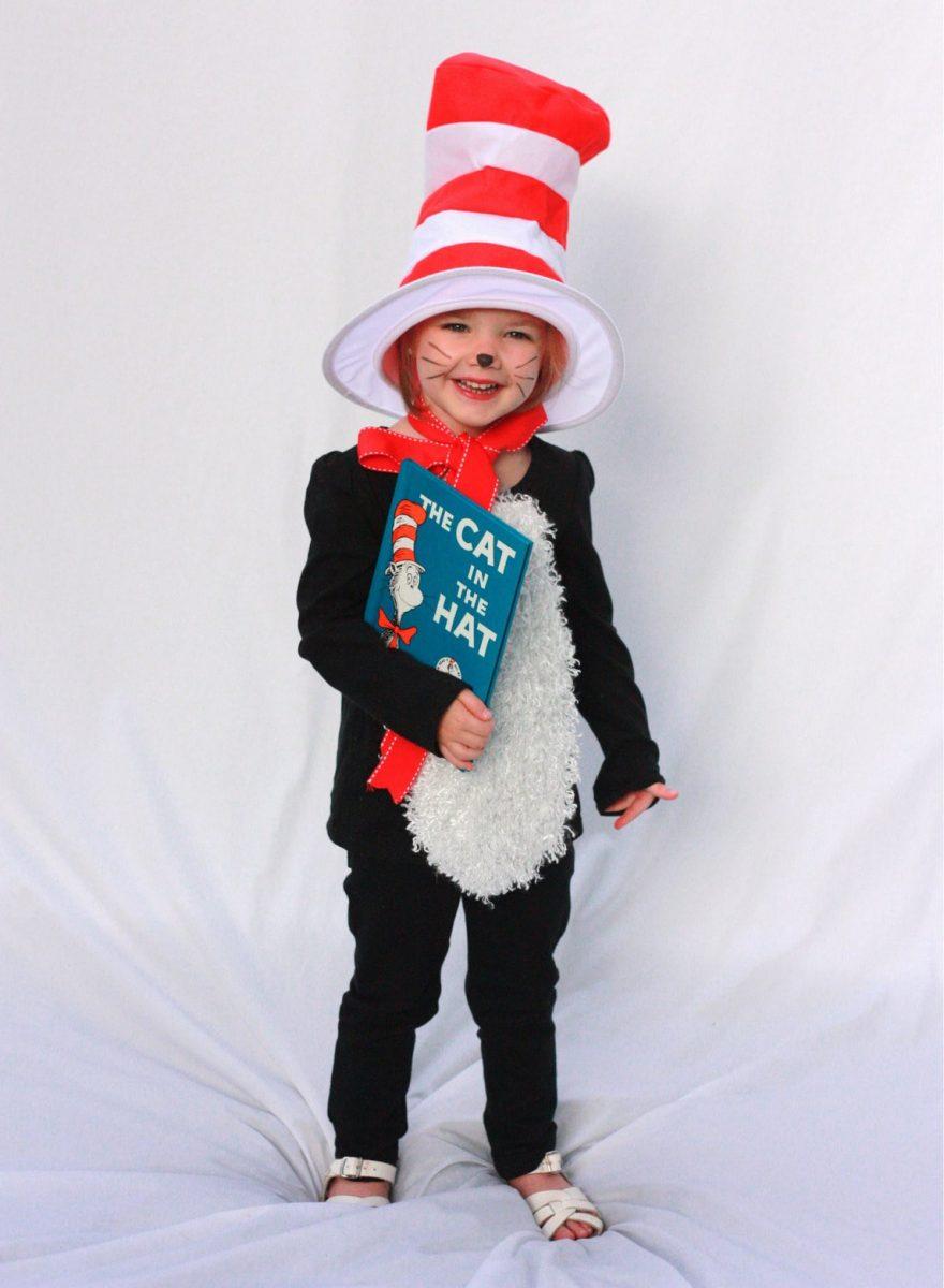 Cat in the Hat kids halloween costume