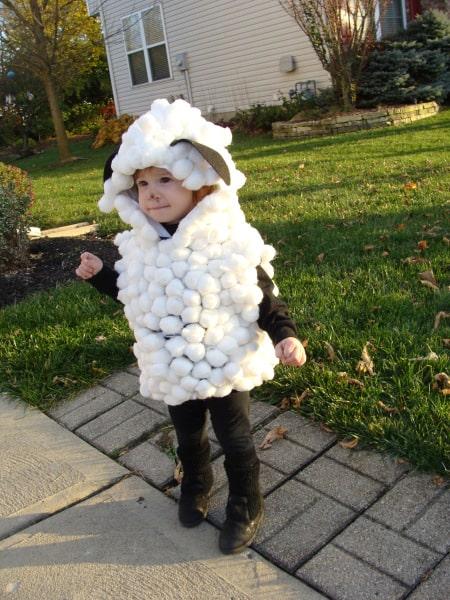 Cotton Ball Sheep kids Costume