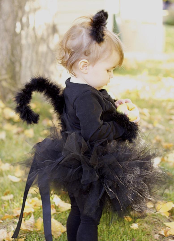 Cute black cat halloween costume