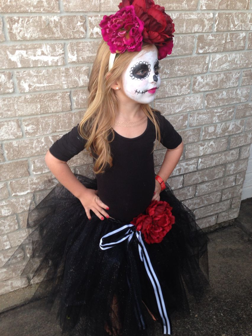Girl's Day of the Dead Halloween costume