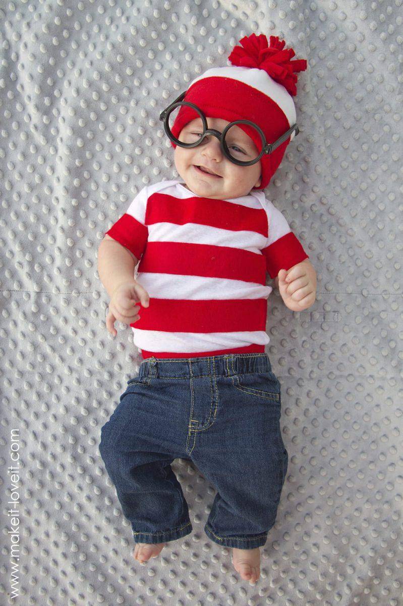 Baby Where's Wally (Waldo) Halloween costume
