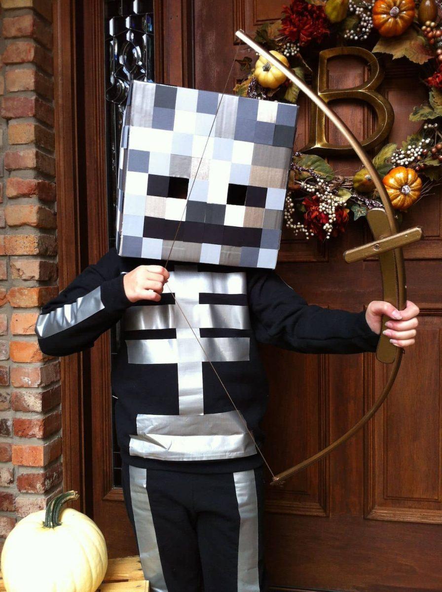 Minecraft skeleton Halloween costume