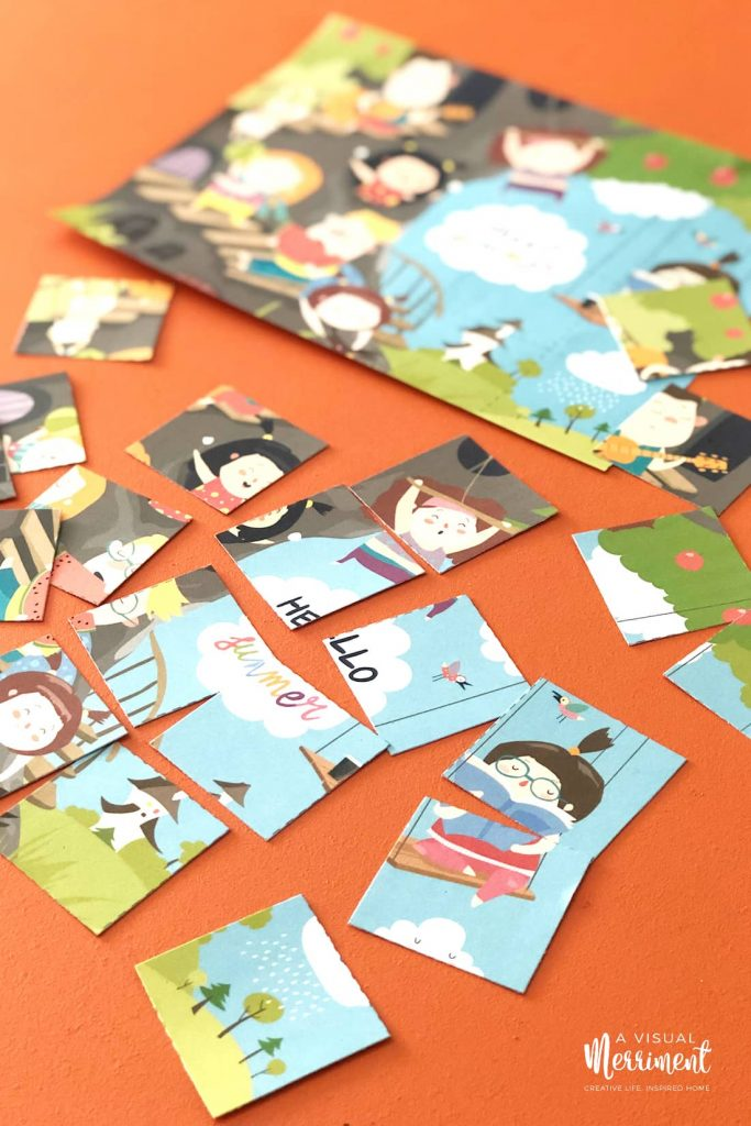 hello summer kids printable activities puzzle