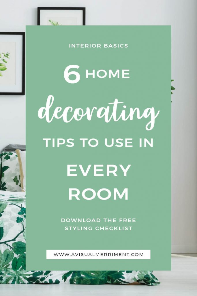 Basic tips anyone can use when decorating a room
