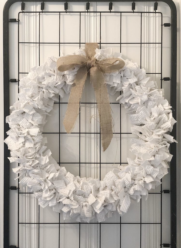 DIY chenille wreath