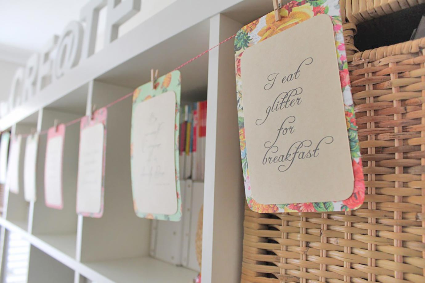 Inspirational Quote Card Bunting Tutorial