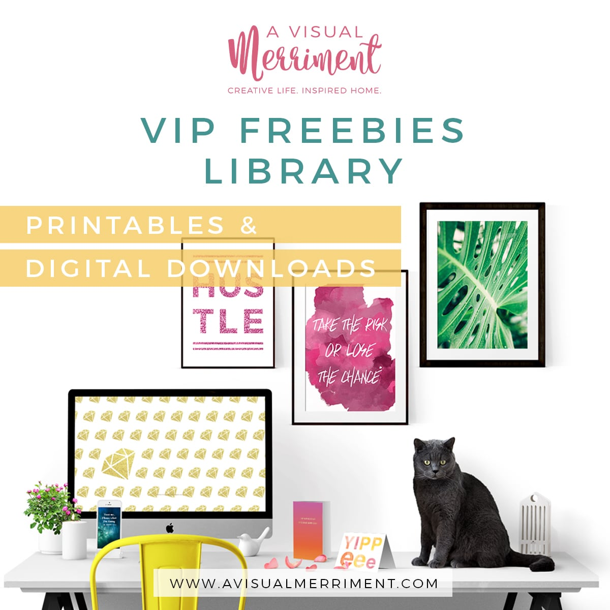 VIP freebies library with printable and digital downloads