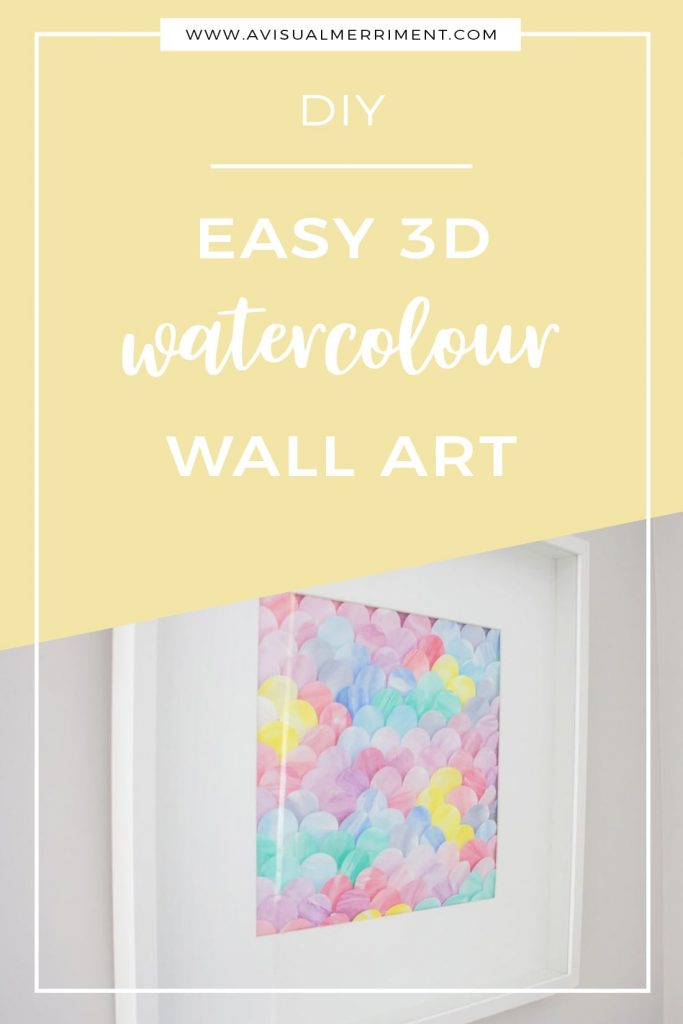 framed colourful painted 3d wall art